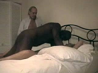 Bent over, Cuckold, Doggystyle, Old, Housewife, Mature, Interracial