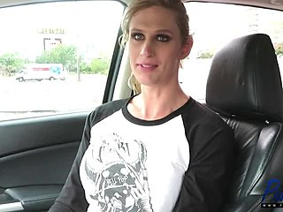 Boobs, Interview, Big tits, Car, Transsexual, Shemale, Tits