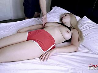 Sleeping naked girl Filming a
